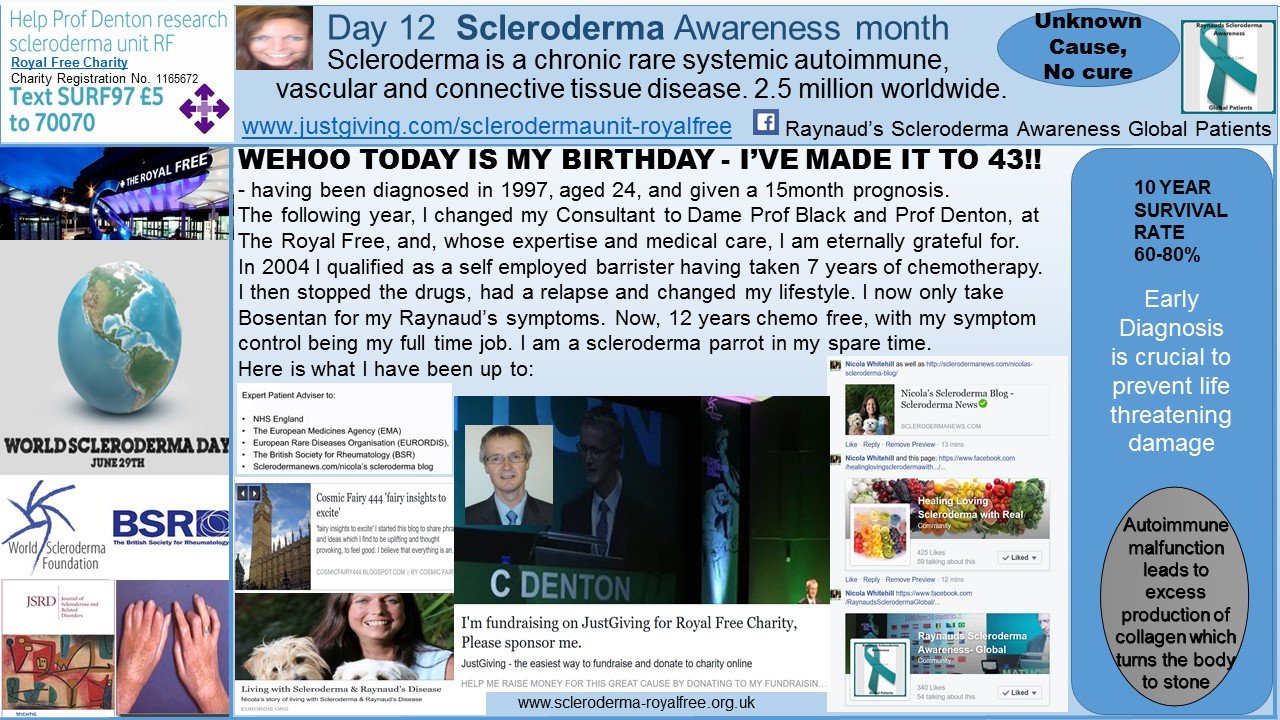 Day 12 Scleroderma Awareness month